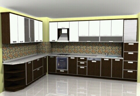 Modern homes kitchen cabinets designs ideas new home for Latest kitchen cabinet design