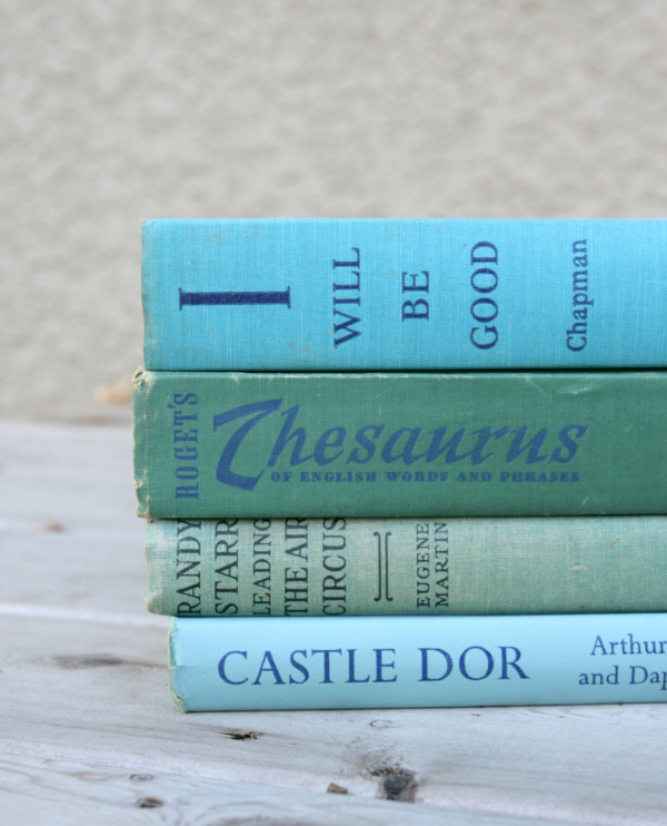 Vintage Book Set #vintage #turquoise #books