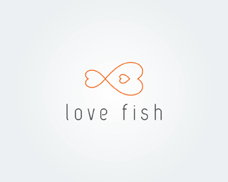 Love Fish  logo design