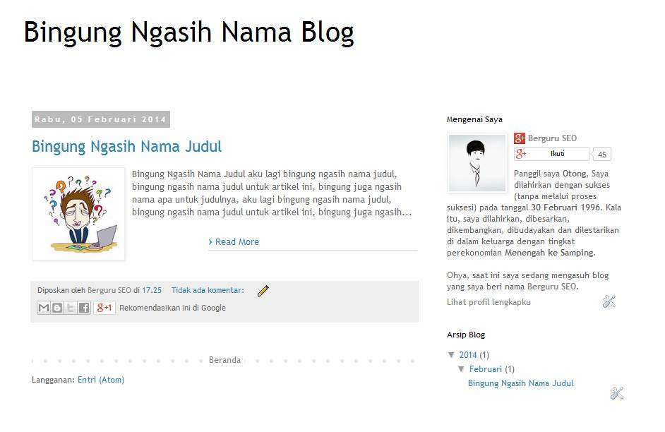 Cara Membuat Read More di Blog 2