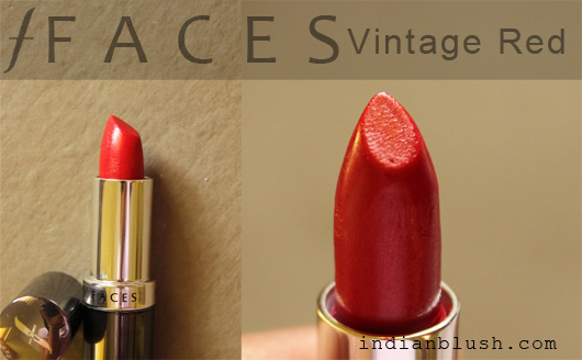 FACES Glam On Vintage Red Lipstick - Review and Swatches