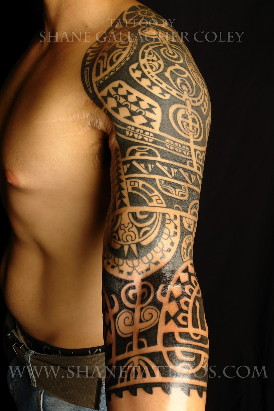maori polynesian tattoo dwayne the rock johnson inspired tattoo on harry extended still in. Black Bedroom Furniture Sets. Home Design Ideas