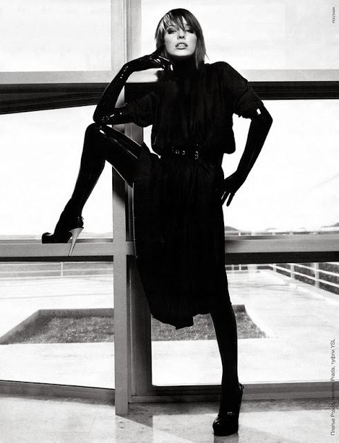 Fetish Fashion :  Milla Jovovich In Latex For Purple Magazine
