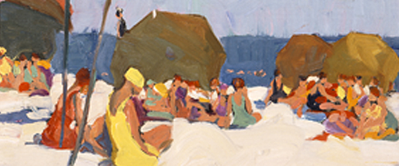 Jane Peterson Beach Scene