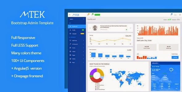 Best Bootstrap AngularJS Admin Templates