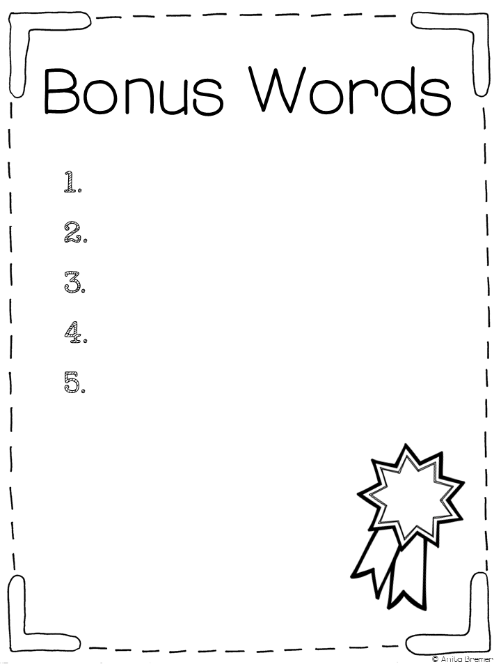 Mrs Bremers Class FREE Spelling Test Templates – Spelling Test Template