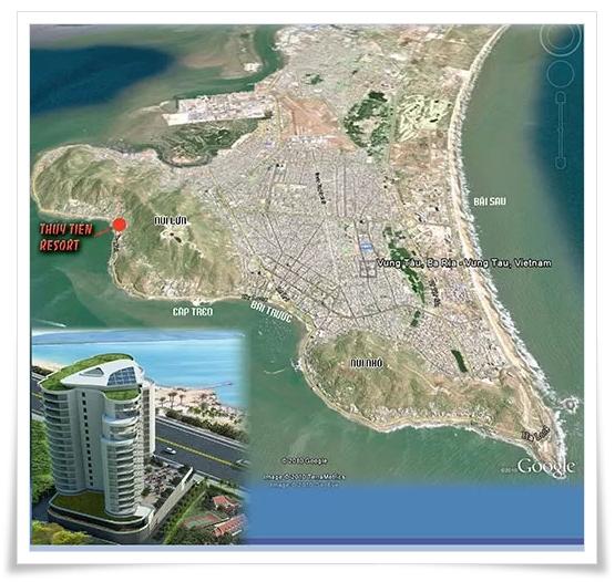 Vị trí căn hộ cao cấp Thuỷ Tiên Resort