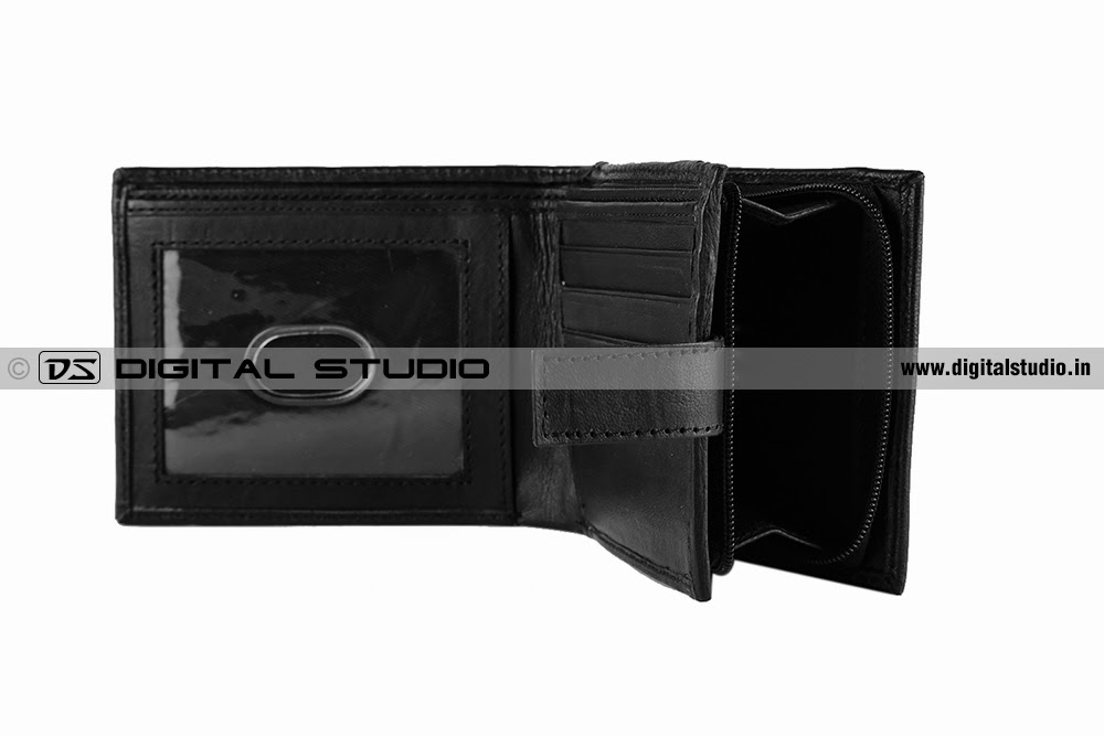 Black wallet with credit card slot