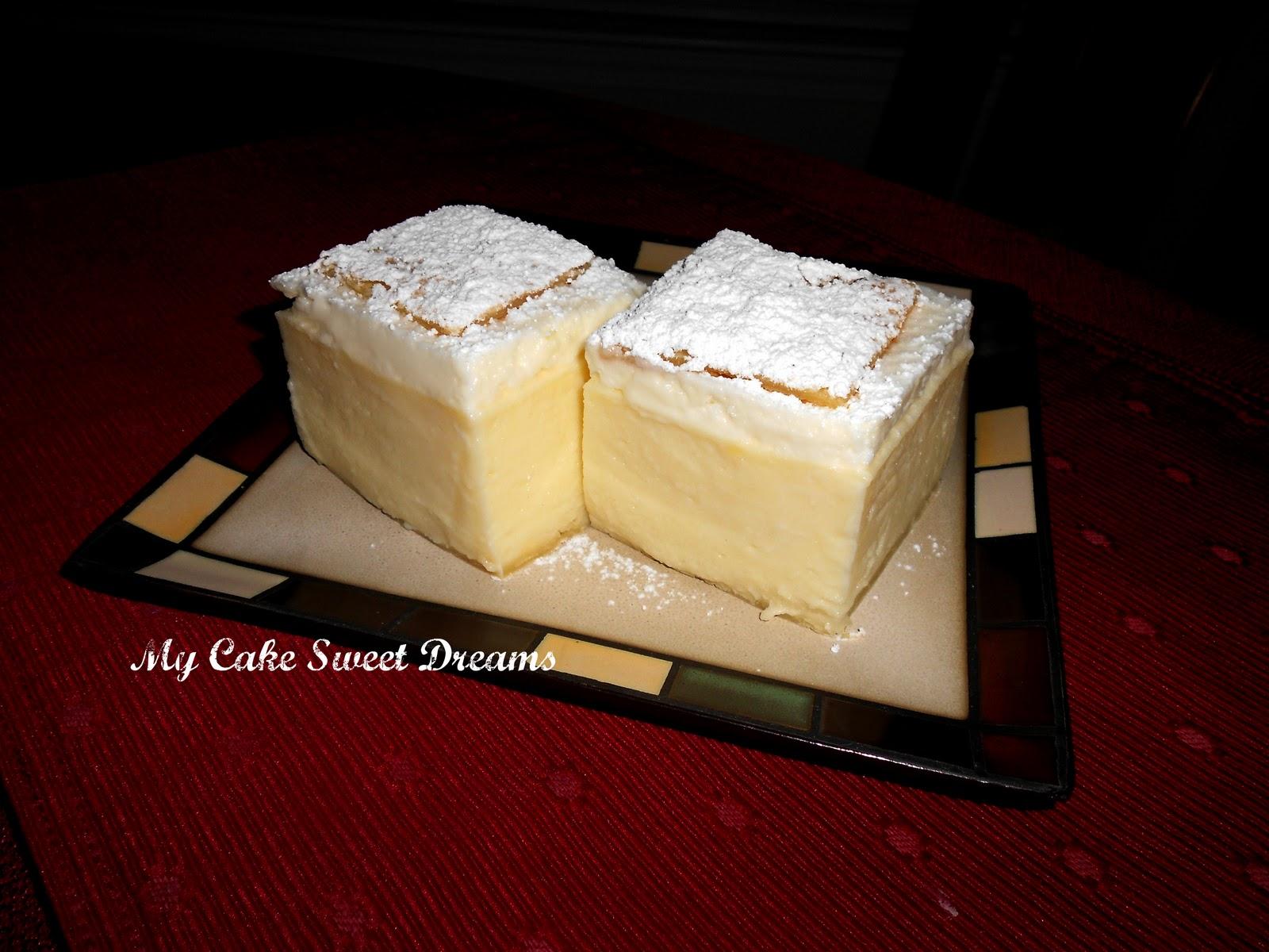 Vanilla cream pastry squares