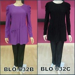 BLOUSE COTTON LYCRA PLAIN