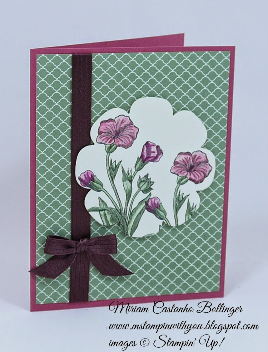 Miriam Castanho Bollinger, #mstampinwithyou, stmapin up, demonstrator, dsc117, subtles DSP, butterfly basics stamp set, big shot, floral frames, blender pens, all occasions card, su