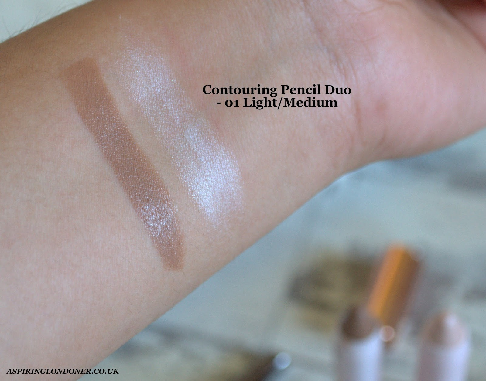 Kiko Rebel Romantic Contouring Pencil Set Swatch - Aspiring Londoner