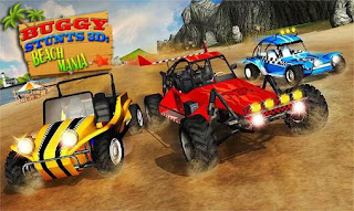 Screenshots of the Buggy stunts 3D: Beach mania for Android tablet, phone.