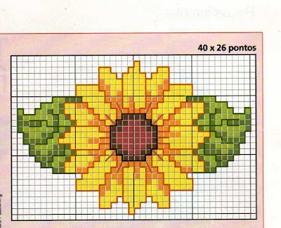 Schema punto croce girasoli