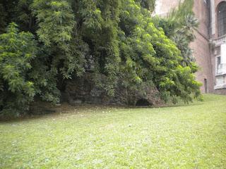 Area dove era collocata la gabbia della lupa