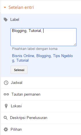 Cara posting dan mempublikasikan artikel blog