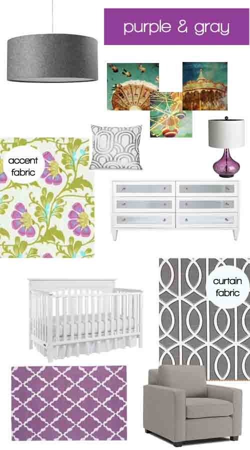 cardigan junkie dream decorating purple gray nursery. Black Bedroom Furniture Sets. Home Design Ideas