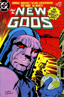 New Gods #1, Darkseid holds the world in his hand, Jack Kirby