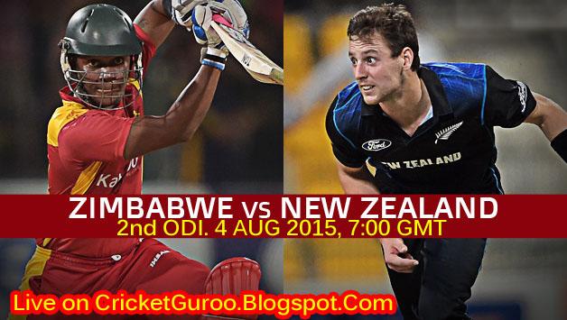 New Zealand vs Zimbabwe 2nd ODI Live Streaming