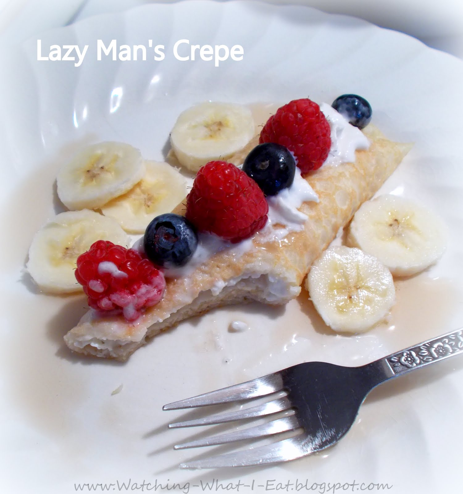 Watching what i eat lazy mans crepes simple way to jazz up lazy mans crepes simple way to jazz up your morning pancake batter ccuart Images
