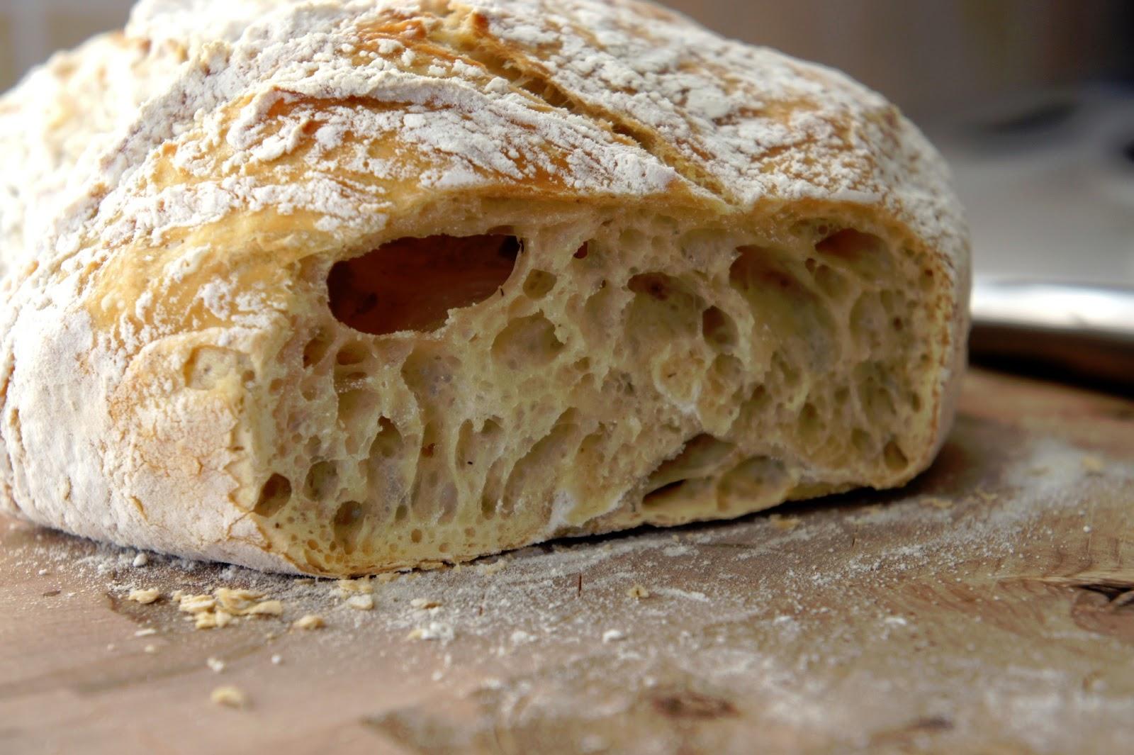 kalljäst bröd i lergryta
