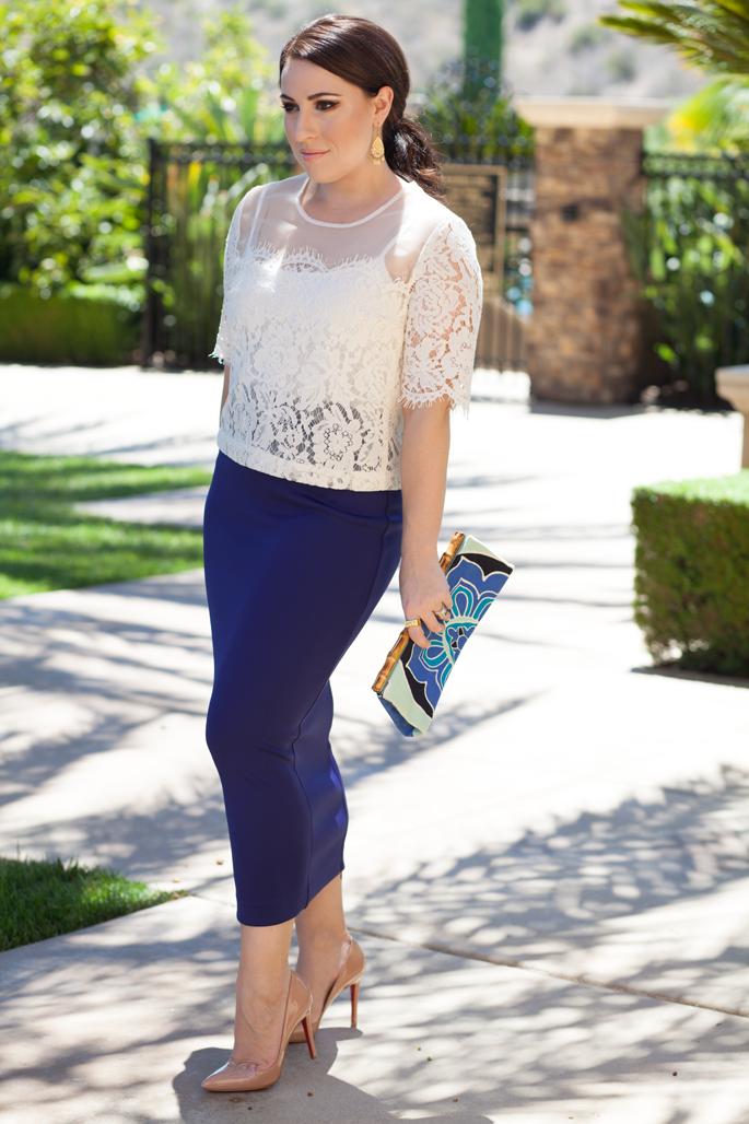 blue bodycon maxi skirt, christian louboutin pigalle