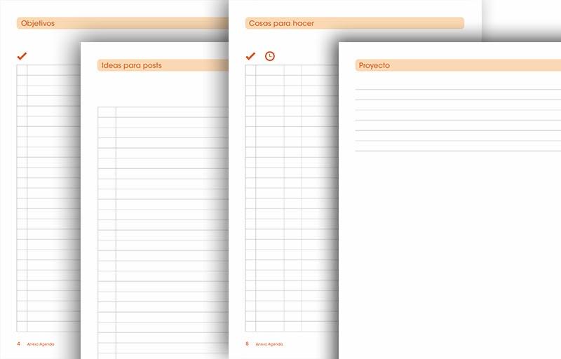 imprimible planificador de blog