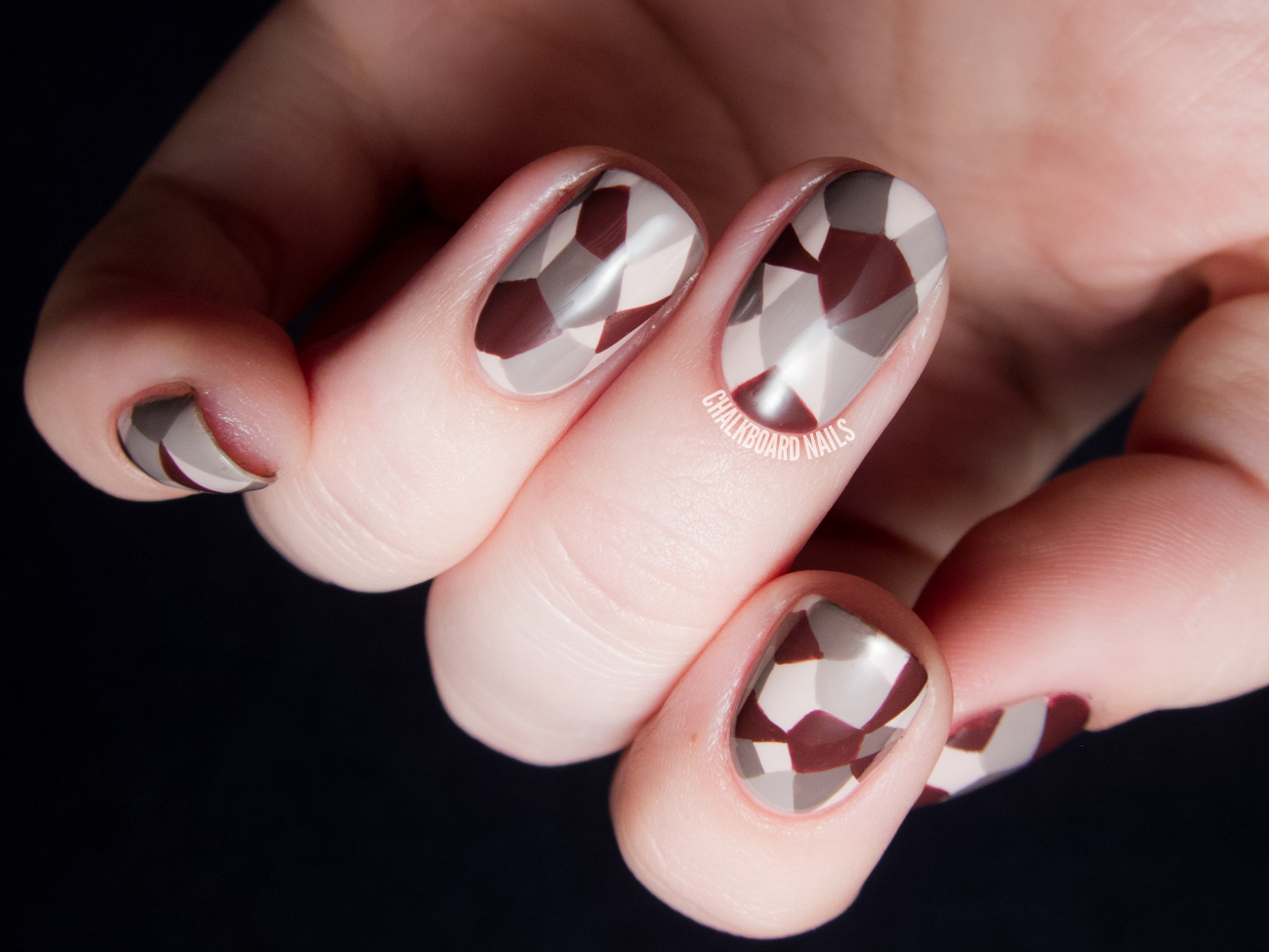 Geometric Faceted Neutrals - OPI Brazil Nail Art - Nail Courses Finder