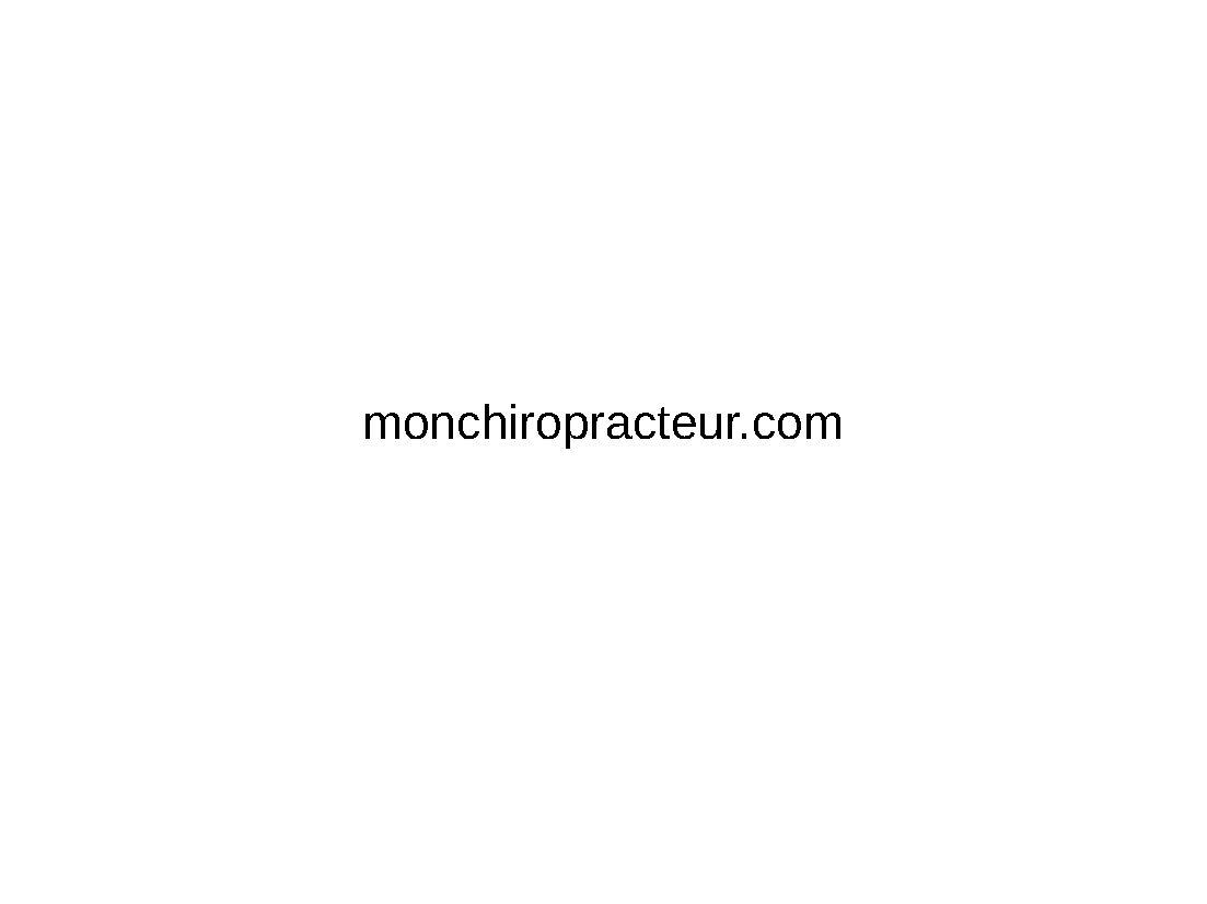 monchiropracteur - BLOGGER - monchiropracteur.com