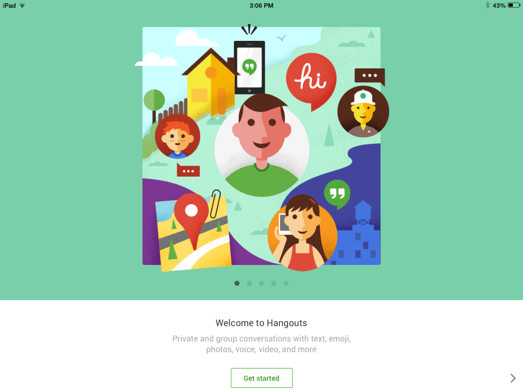 Newly Redesigned Hangouts for iOS