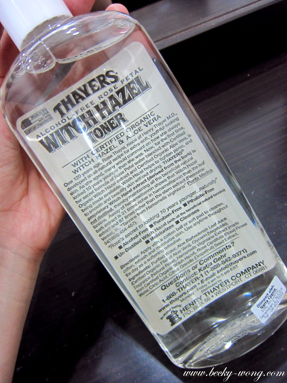 Beauty] Thayers Alcohol-Free Rose Petal Witch Hazel with Aloe Vera ...