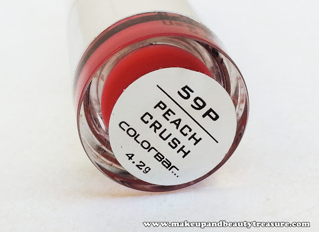 Colorbar Velvet Matte Lipstick 'Peach Crush 59P' Review, Swatches & LOTD