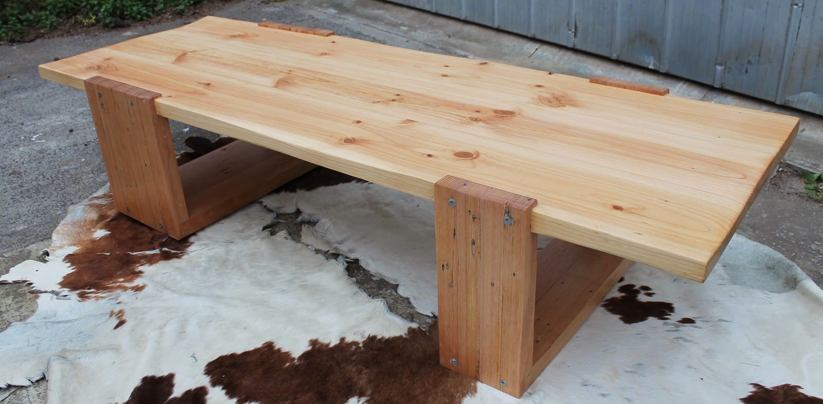 Large Rustic Solid Timber Coffee Table Sold Mymakersgrain