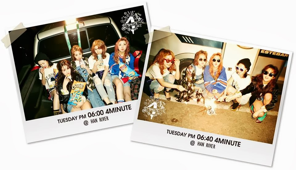 4Minute go to Han River for this day's teaser photos