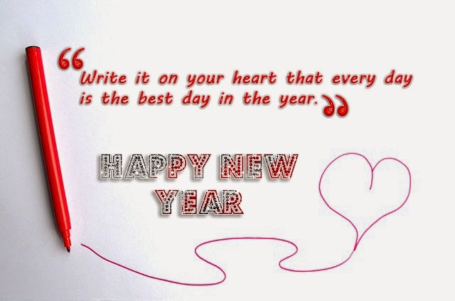 Happy New Year 2015 Lovely Heart Quotes