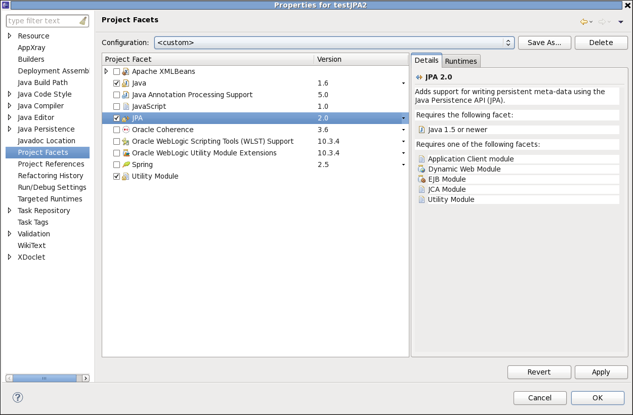 jpa project You can use the jpa project wizard to create and configure a jpa project.