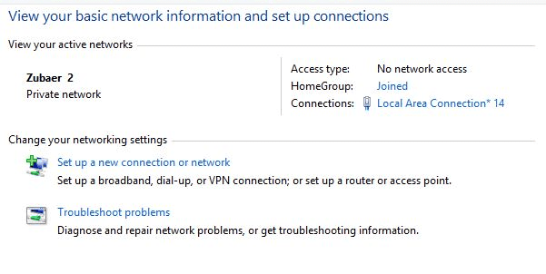 wlan or ad hoc in windows 8 and 8.1