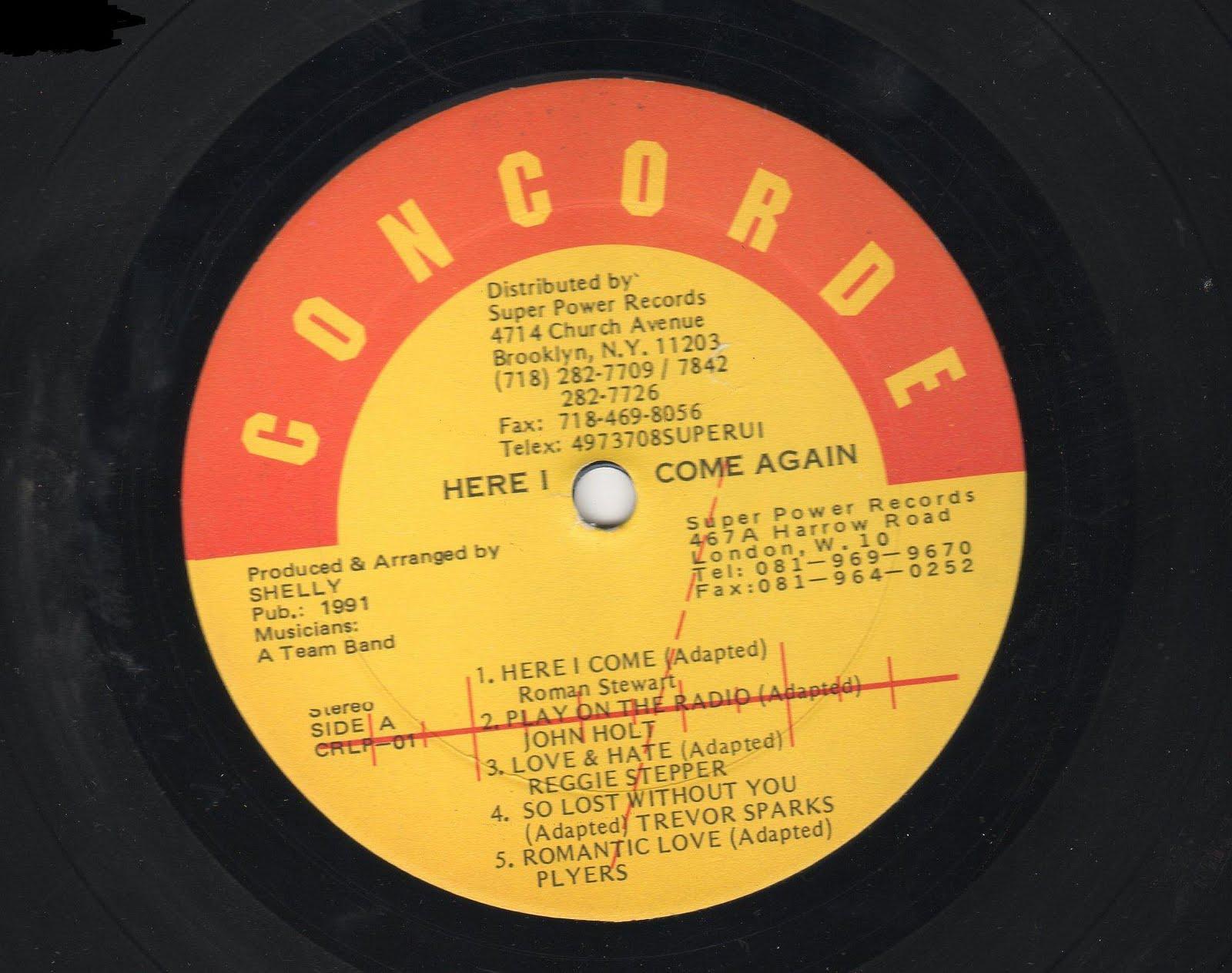 Here I Come Again LP(concorde)(super power)1991