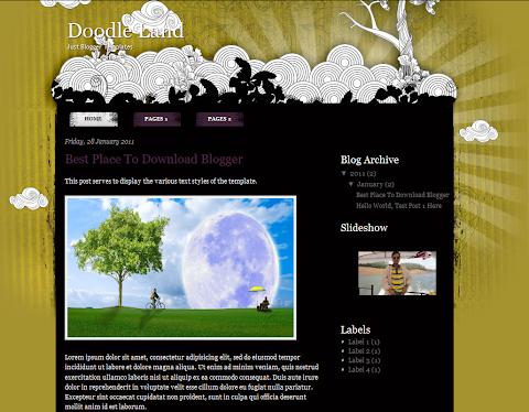 Doodle Land Life Blogger Theme