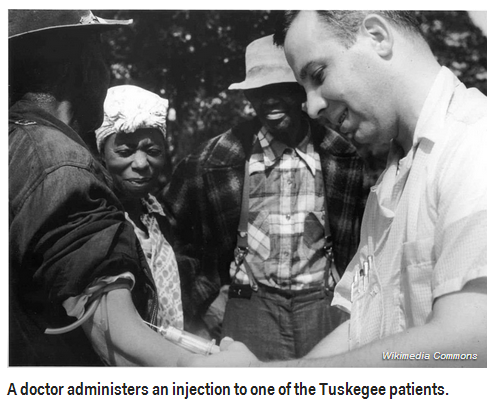 The U.S. Public Health Service lied about treating black men with syphilis for more than 40 years.