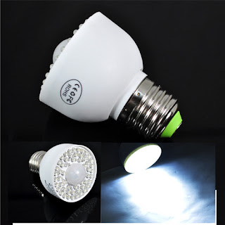 E27 54 LED PIR Occupancy Sensor White Light Bulb Motion 3W AC85-260V Infrared