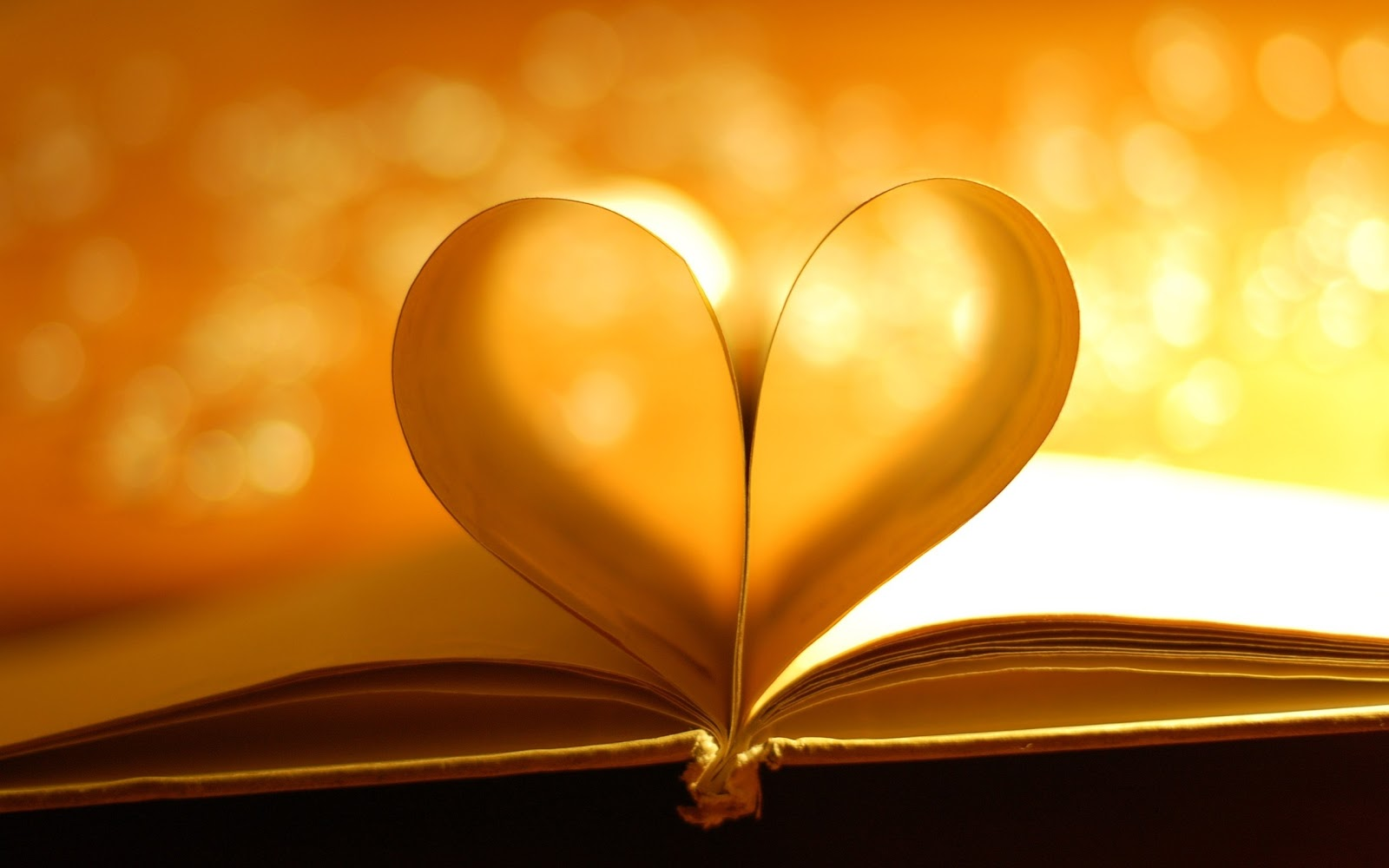 Book Pages Heart Light Photo HD Wallpaper | Love ...