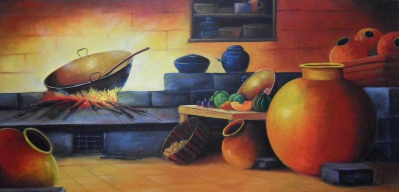 Cuadros modernos pinturas y dibujos bodegones colombianos - Pinturas de cocina ...