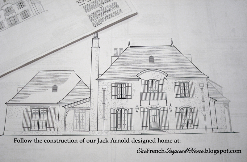Our french inspired home our jack arnold home floor plan for Old world style house plans
