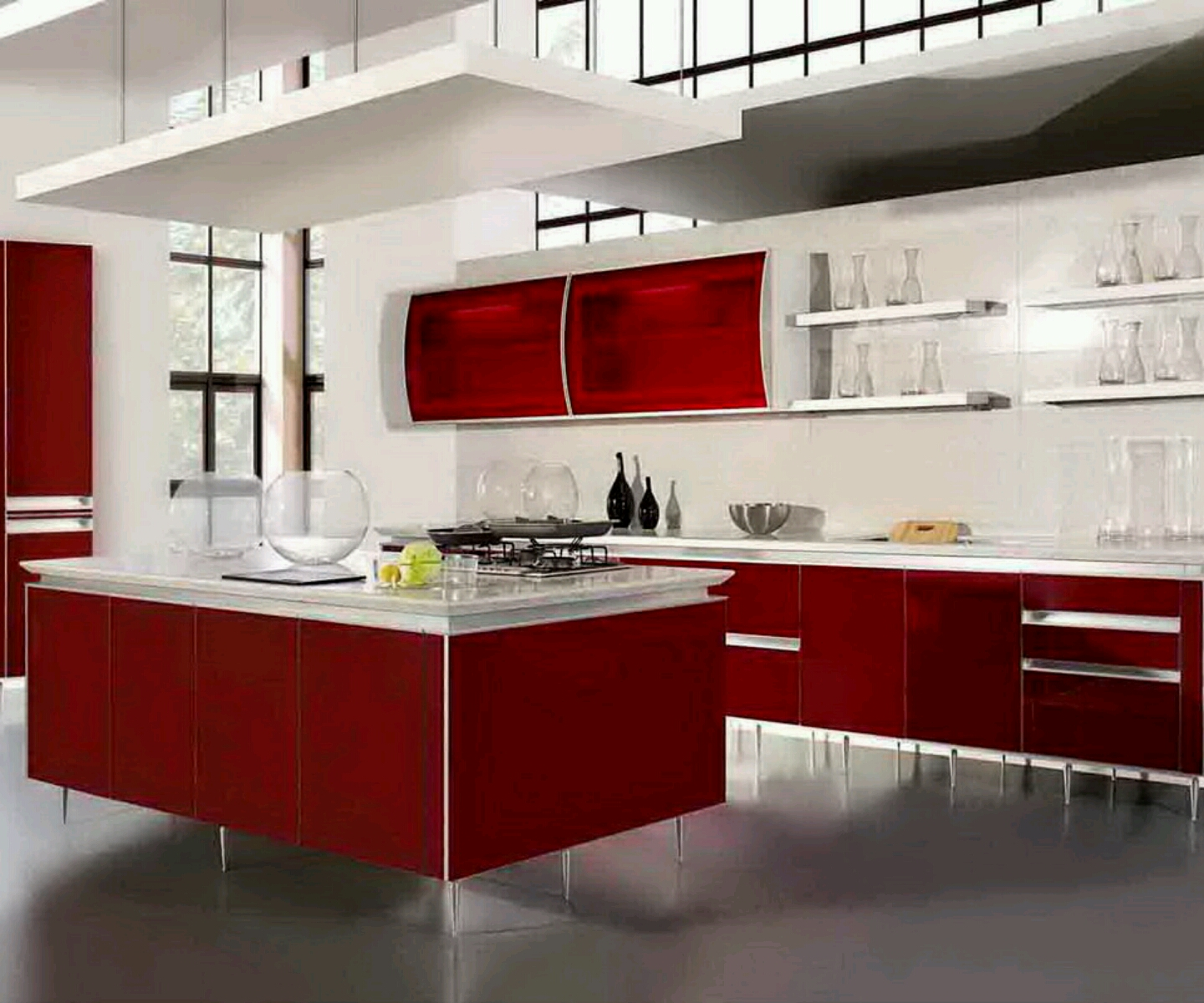 exceptional Latest Design Kitchen #9: Design New Kitchen The New Modern Kitchen Design Latest Interior - Latest  designer kitchen