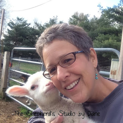 Artist Diane Coe with Lamb