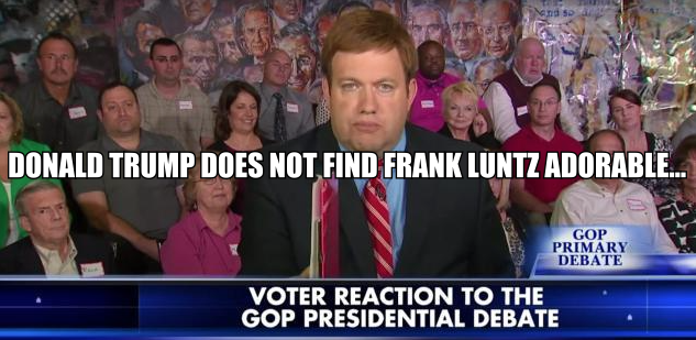 donald trump news megyn kelly frank luntz debate