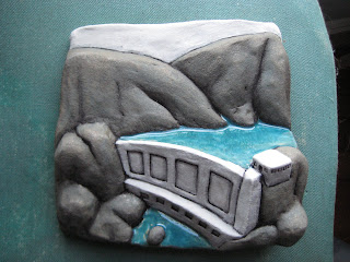 Ben Belknap Ceramic Sculpture Dam Landscape
