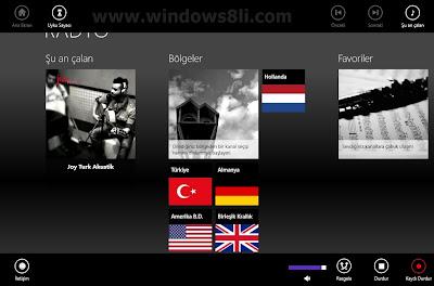 Windows 8 Radyo Uygulaması