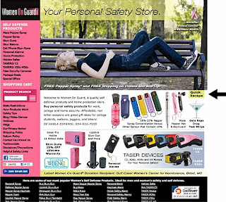 Domestic violence victims can securely browse the WomenOnGuard.com website which includes quick escapes.